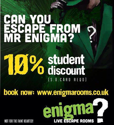 10% Student Poster for enigma room.co.uk