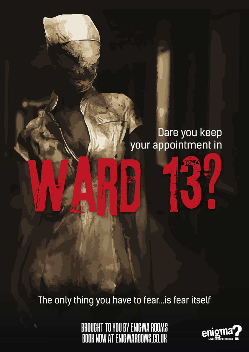 Ward 13, available at the Doncaster Enigma Rooms
