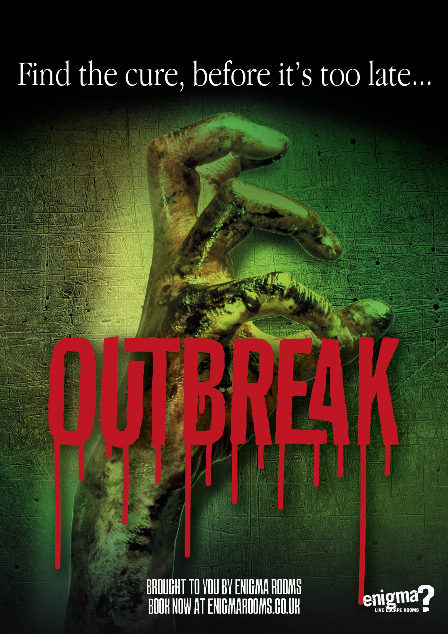Enigma live escape rooms - movie poster of the outbreak enigma room