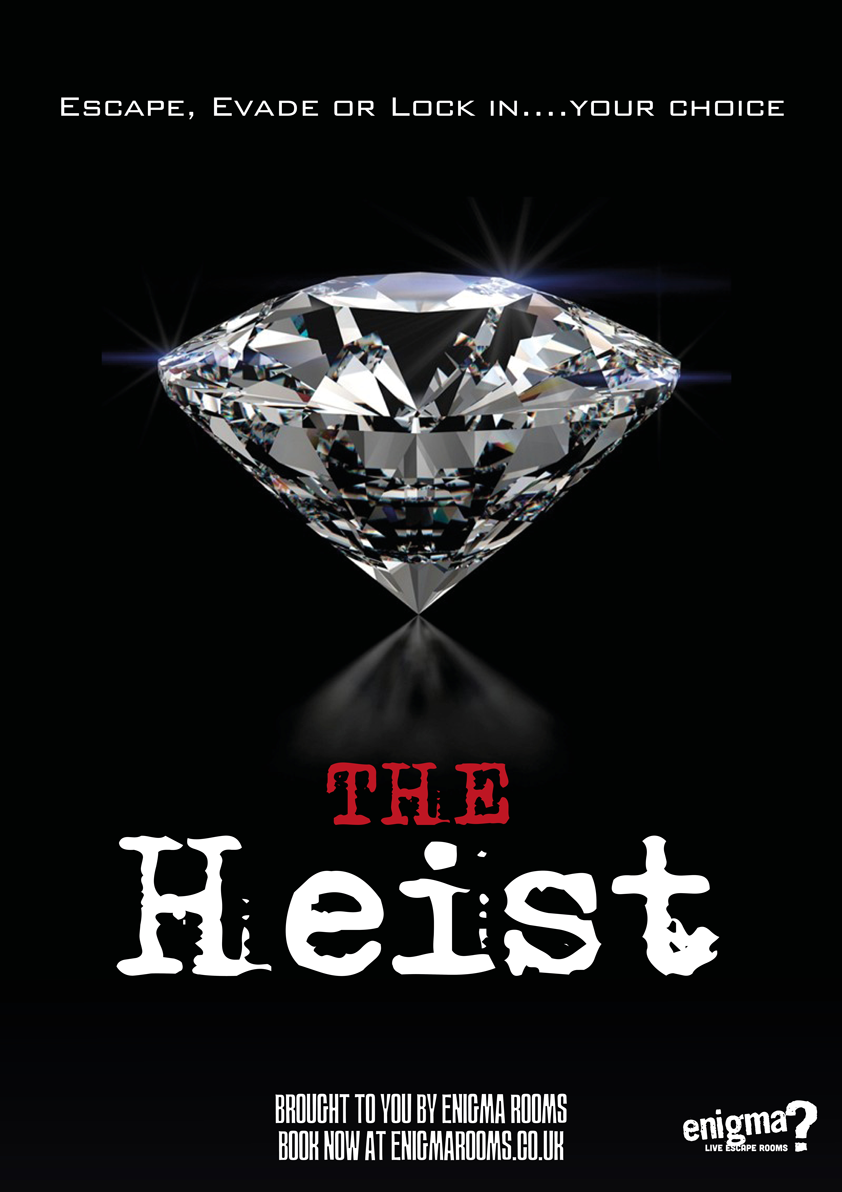 The Heist, available at Doncaster Enigma Rooms