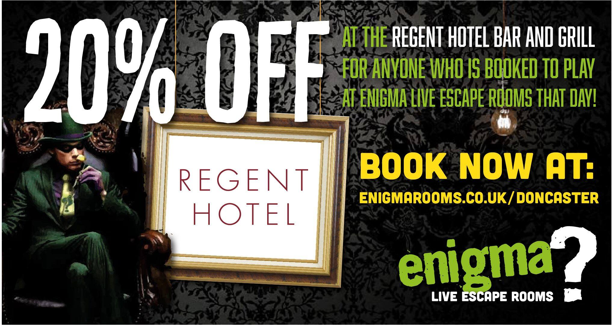 20% off Poster for Regent hotel bar and grill