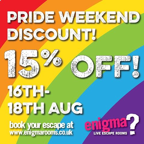 Doncaster pride event with 15% off image