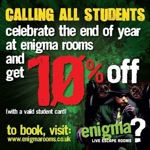 schools out, summers in! 10% discount for students!