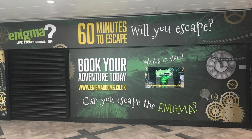 Brand new location. Enigma Live Escape Rooms Hull at Princes Quay Shopping Centre