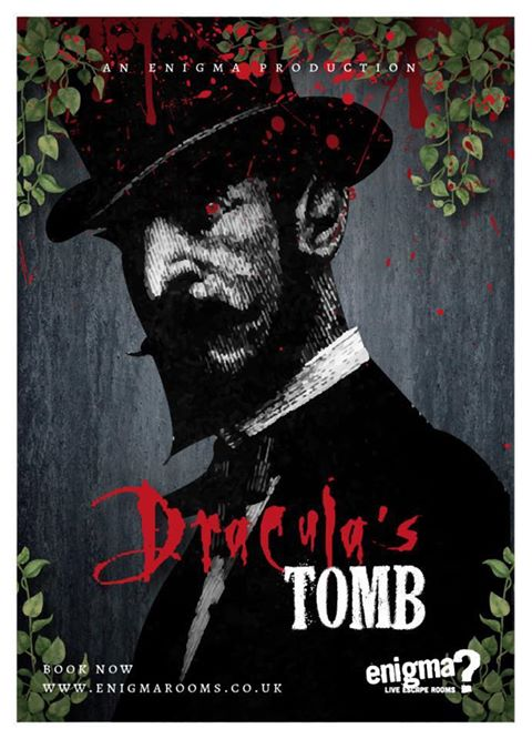 Enigma rooms Hull, poster for the new game Dracula's Tomb