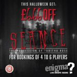 Treat yourself at Enigma Live Escape Rooms with this Halloween offer, Seance at Wakefield, get £6.66 off
