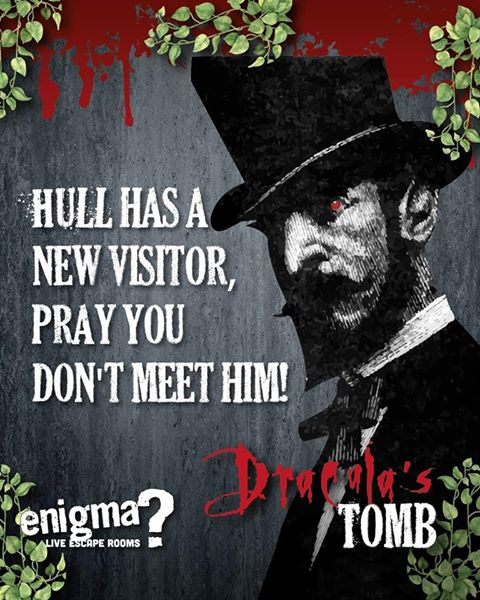 Dracula's Tomb at Enigma Live Escape Rooms Hull