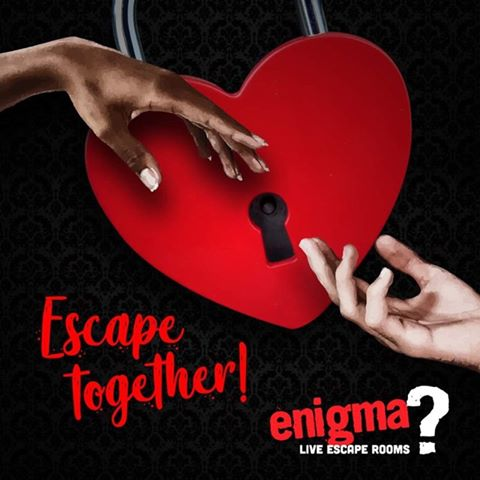 Enigma live escape rooms - escape together valentines promotion