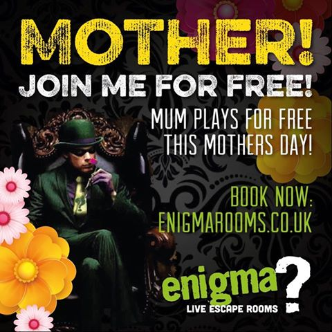 enigma live escape rooms - mothers day offer