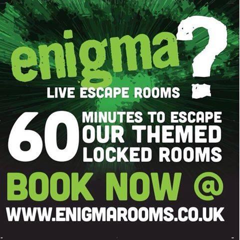 60 minutes to escape enigma rooms