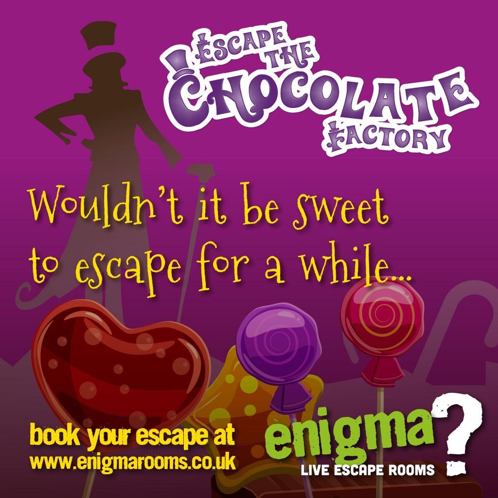Escape the chocolate factory at enigma rooms